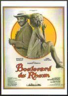 Carte Postale : Lino Ventura - Brigitte Bardot (film Cinéma Affiche) Boulevard Du Rhum (illustration : Charles Rau) - Posters On Cards