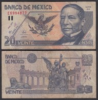 MEXIKO - MEXICO - 20 Pesos 1998 Pick 106c  F (4)   (26453 - Banconote
