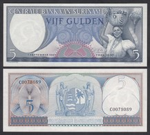 SURINAM - SURINAME 5 Gulden 1963 UNC (1) Pick 120     (26468 - Banconote