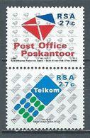 Afrique Du Sud YT N°740/741 Privatisation Des Postes Et Télécommunications (Paire Se-tenant) Neuf ** - South Africa (1961-...)