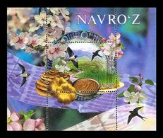 Uzbekistan 2020 Mih. 1409 (Bl.105) Novruz Holiday. Birds. Flowers. Bread MNH ** - Uzbekistan