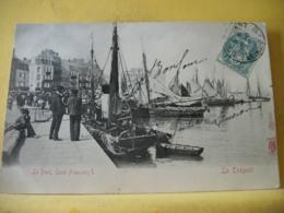 B16 7398 CPA 1907 - 76 LE TREPORT. LE PORT, QUAI FRANCOIS - EDIT. KUNZLIE 8875 - ANIMATION. BATEAUX - Le Treport