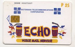 BOTSWANA REF MV CARDS BOT-23 VOICE MAIL SERVICE P25 CN On Picturial Side - Botsuana