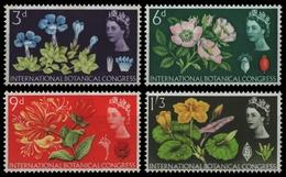 Großbritannien 1964 - Mi-Nr. 378-381 Y ** - MNH - Phosphor - Blumen / Flowers - Unused Stamps