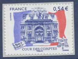 N° 117  Adhésif 2007 , Bicentenaire De La Cour Des Comptes, Valeur Faciale 0,54 € - France