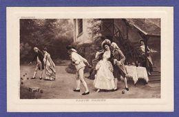 COUPLE Grand Siècle  Jeu De Boulle  Partie Gagnée Par Illustrateur J Gerardet ( TTB état ) V705 - Couples