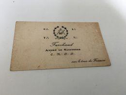 AL - 12 - Symbole Franc- Maçon - Farchaud - André Le Saintonge - Cartes De Visite