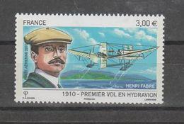 FRANCE / 2010 / Y&T PA N° 73 ** : Henri Fabre - 1er Vol En Hydravion (de Feuille) X 1 - 1960-.... Ungebraucht