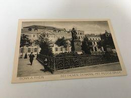 AL - 12 - BONN -  Beethoven - Denkmal Mit Postgebauge - Bonn