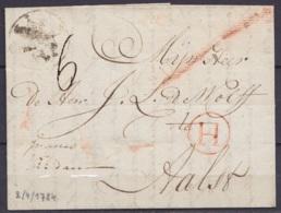 Pays-Bas - L. Datée 2 Avril 1784 De SCHIEDAM Pour AALST - Marque (H) De Hollande - 1714-1794 (Pays-Bas Autrichiens)