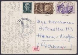 Italie - CP Affr. 75cts Datée 29-4-1941 Pour HAMM Westfalen - Cachet Censure Militaire - Storia Postale