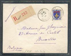N°574 (pas Commun Seul Sur Lettre) Obl. Sc ANET Sur Lettre De Deuil Censurée (bande Allemande Au Verso) Du 11-4-1944 Ve - Covers & Documents