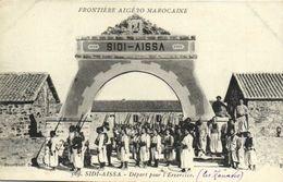 FRONTIERE ALGERO MAROCAINE  SIDI AISSA  Départ Pour L' Exercice (Les Zouaves) RV - Otros