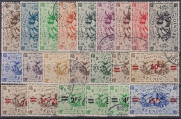 REUNION : SERIES COMPLETES N° 233/246 + 252/259 OBLITERATIONS DISCRETES - Réunion (1852-1975)