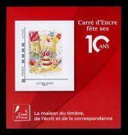 France 2019 - Neuf - Y&T N° ?? Scanné Recto Verso - Bloc - 10 Ans Carré D'Encre - Blocs Souvenir