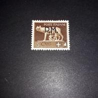 """PL1210 REGNO D'ITALIA POSTA MILITARE 1943 DICITURA NERA PM 5 C. SEPPIA """"X"""" - Nuevos"""