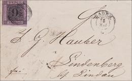 Baden: Brief  1861, Mit Text Baden Nach Lindenberg. MiNr. 4 - Baden