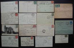 Lot De 15 Cartes Et Enveloppes Entre 1901 Et 1920 Avec Cachet De Gare (Poste Ferroviaire) , Voir Photos Pour Le Détail - Spoorwegpost