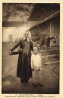 COCHINCHINE  Saigon Jeune Femme Annamite Et Son Enfant Revenant Du Marché RV - Viêt-Nam