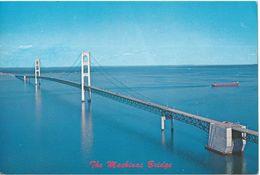 BIG POSTCART ( Size 15cm/22.5cm ) - The Mackinac Bridge,U.S. - Bridges