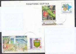 Ukraine 2020, Postkarte, Gelaufen, Kaktus Calymmanthium / Ukraina 2020, Postcard, Used, Cactus Calymmanthium - Sukkulenten