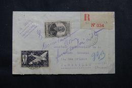 MADAGASCAR - Enveloppe En Recommandé De Bealanana Pour Marseille En 1946, Affranchissement Plaisant - L 62759 - Madagascar (1889-1960)
