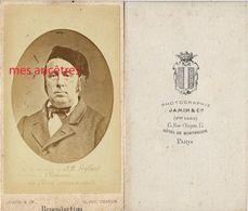 CDV Homme Identifié- J.B  LEGLAND, Instituteur à Chevreuse-hommage De Ses élèves à Son Décès-photo Jamin à Paris - Anciennes (Av. 1900)