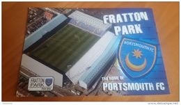 Portsmouth FC Fratton Park Stadium Cartolina Stadio Postcard Stadion AK Carte Postale Stade Estadio - Soccer