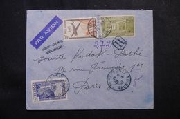 RÉUNION - Enveloppe En Recommandé Provisoire De St Denis Pour Paris En 1939, Affranchissement Plaisant  - L 62770 - Réunion (1852-1975)