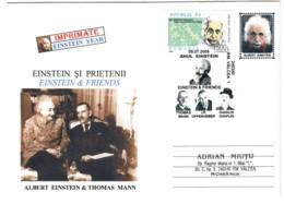 COV 89 - 8 Albert EINSTEIN & Thomas MANN, Romania - Cover - Used - 2005 - Albert Einstein