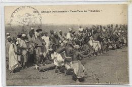 """Afrique Occidentale Tam Tam De """"Habbès"""" + Cachet Militaire RV - Sénégal"""