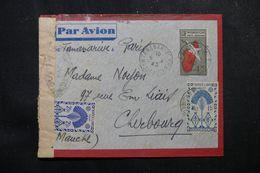 MADAGASCAR - Aérogramme De Tananarive Pour La France En 1945 Avec Contrôle Postal, Affranchissement Plaisant - L 62776 - Madagascar (1889-1960)