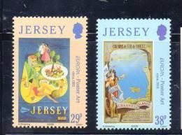 EUROPA JERSEY N° 1083/1084 **  - L'ART DE L'AFFICHE - Cote 3.50 € - Europa-CEPT