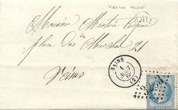 SAINS (AISNE). Origine Rurale De HOUSSET Pour MARTINET COQUET à REIMS. 1868 - 1849-1876: Classic Period