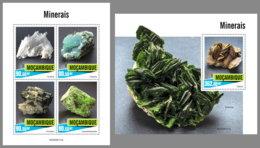 MOZAMBIQUE 2020 MNH Minerals Mineralien Mineraux M/S+S/S - OFFICIAL ISSUE - DHQ2021 - Minéraux