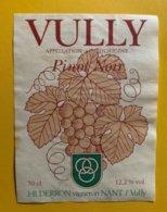 11629 - Vully Pinot Noir JP Derron - Etiquettes