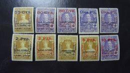 &BAR-FI& ESPAÑA SPAIN EDIFIL 392/401, YVERT 329/338, MICHEL 351/360 MNH** FAKE OVERPRINT, SOBRECARGA FALSA. - 1889-1931 Reino: Alfonso XIII