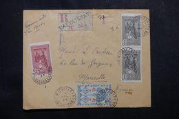 MADAGASCAR - Enveloppe En Recommandé De Maevatanana Pour Marseille En 1945, Affranchissement Plaisant - L 62784 - Madagascar (1889-1960)