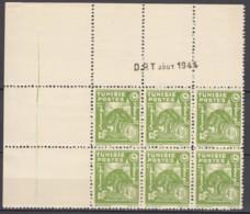 N° 262 En Bloc De 6 Coin Daté 08/1944 - X X - ( C 1583 ) - Tunisie (1888-1955)