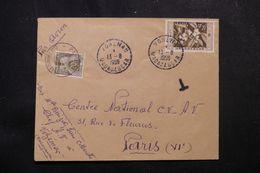 MADAGASCAR - Enveloppe De Vohémar Pour Paris En 1959, Affranchissement Plaisant, Taxe De Paris à L 'arrivée - L 62786 - Madagascar (1889-1960)