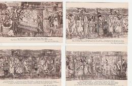 20 / 6 / 87. -  LA  CHAISE - DIEU  ( 43 ).  TAPISSERIE  D'ARRAS ( XV E )   -  LOT  DE 18  CPA - 5 - 99 Karten