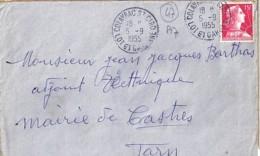 47 . LOT Et GARONNE . COLAYRAC ST CIRO . TàD De Type A7 . 1955 - Postmark Collection (Covers)