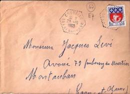 47 . LOT Et GARONNE . COURBIAC . TàD De Type E7 . 1969 - Postmark Collection (Covers)