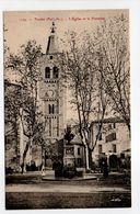 - CPA PRADES (66) - L'Eglise Et La Fontaine - Edition Brun 1174 - - Prades