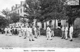SENLIS    Caserne  ,   Quartier Ordener    La Leçon D'escrime - Senlis