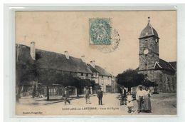 70 CONFLANS SUR LANTERNE #12245 PLACE EGLISE EDIT REUCHET - Francia