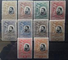 ROMANIA / Roumanie 1906,25 E Anniversaire Du Royaume  Serie Complète  Yvert N° 182 / 191 Neuve * MH, TB - Nuovi