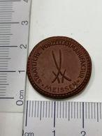 Meissen Porzellan Medaille Dresden - Allemagne
