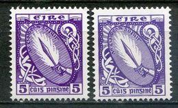 Ireland Mi# 78DII I+II Postfrisch/MNH - National Symbol - 1937-1949 Éire