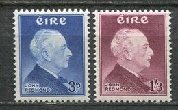 Ireland Mi# 128-9 Postfrisch/MNH - Polititian - 1949-... Republic Of Ireland